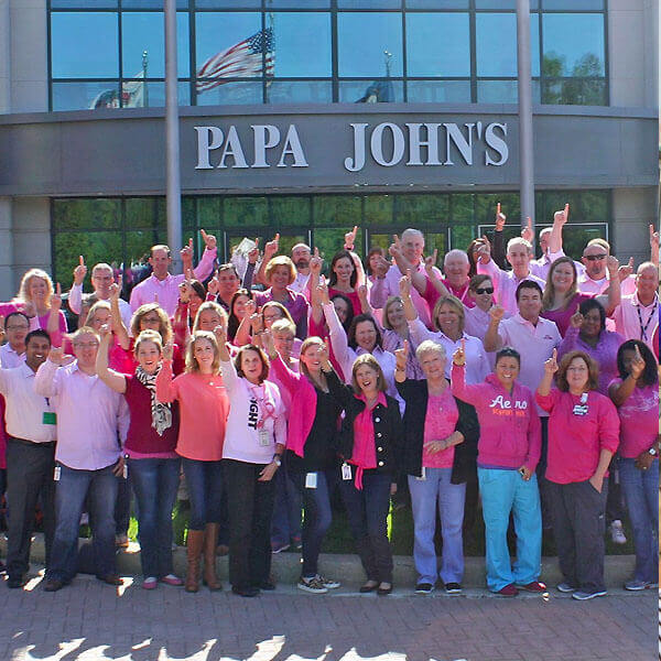 Papa John's Corporate staff in Louisville, Kentucky