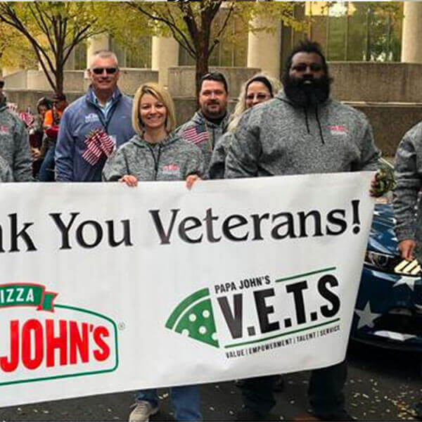 Papa John's V.E.T.S employee resource group for veterans